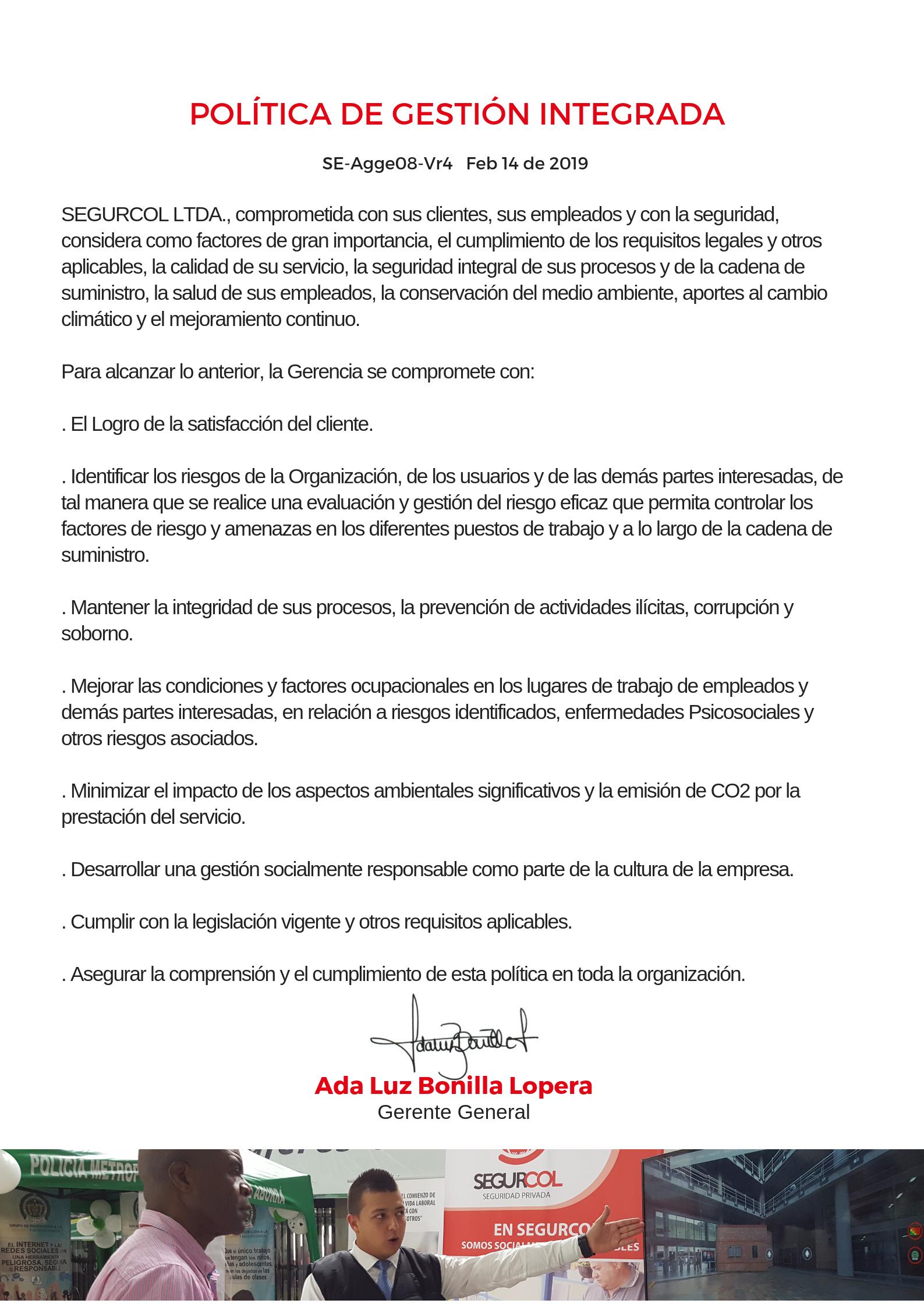 POLÍTICA DE GESTIÓN INTEGRADA (1)